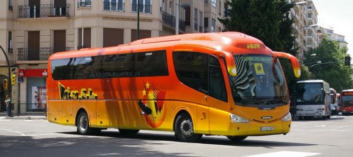 En autobús a las Lomas del Gállego